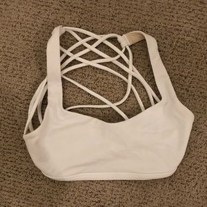 White LuLu Lemon Free To Be Wild Sports Bra